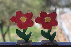 Dekorácie - Kvetinky z dreva - 10641943_