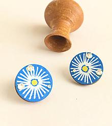 Náušnice - maľované náušnice margarétky - 10643587_