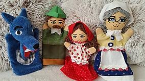 Hračky - Maňušky z rozprávky o Červenej Čiapočke... - 10641573_