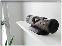 Svietidlá a sviečky - Drevený svietnik 006 - 10643669_