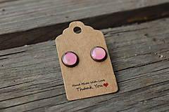 Náušnice - Naušky živicové mini ružové - 10643222_