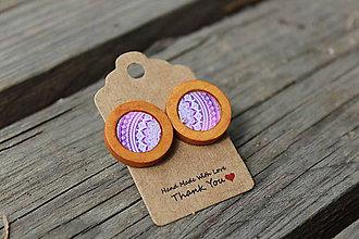 Náušnice - Naušky živicové-drevené mandaly - 10643303_