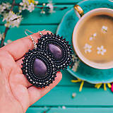 Náušnice - Pottery earrings n.34- vyšívané náušnice - 10641436_