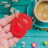 Náušnice - Pottery earrings n.35 - vyšívané náušnice - 10641441_