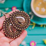 Náušnice - Pottery earrings n.36 - vyšívané náušnice - 10641446_
