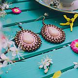 Náušnice - Pottery earrings n.37 - vyšívané náušnice - 10641450_