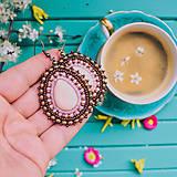 Náušnice - Pottery earrings n.37 - vyšívané náušnice - 10641451_