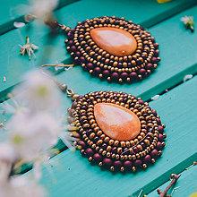 Náušnice - Pottery earrings n.38 - vyšívané náušnice - 10641456_