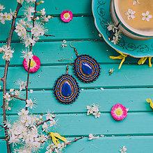 Náušnice - Pottery earrings n.39 - vyšívané náušnice - 10641461_