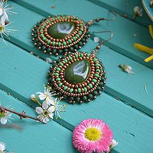Náušnice - Pottery earrings n.40 - vyšívané náušnice - 10641464_