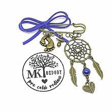 Odznaky/Brošne - Lapač snov na kočík  (Modrá) - 10642763_