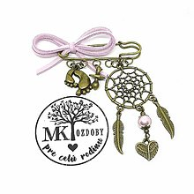 Odznaky/Brošne - Lapač snov na kočík  (Ružová) - 10642773_
