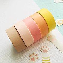 Papier - jednofarebná papierová páska, hrejivé odtiene (5. žltá) - 10641670_