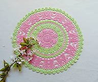 Úžitkový textil - Jarná háčkovaná dečka - 10641621_