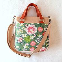 90ff18df72 Veľké tašky - Big Sandy - Zelená s kvetmi - 10642248