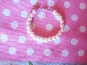 Detské doplnky - Náramok perlový - 10642755_