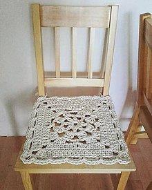 Úžitkový textil - Podsedák VINTAGE prírodný - 10641995_