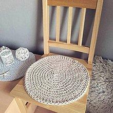 Úžitkový textil - Podsedák vo farbe dreva - 10642009_