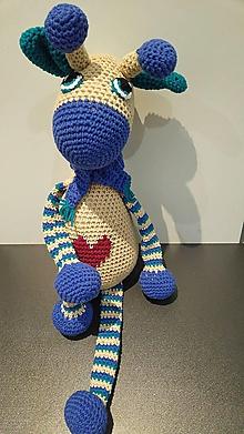Hračky - Žirafko so srdcom (cez 60 cm) - 10644344_