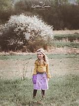 """Detské oblečenie - Košeľo-sukňa """"fialka"""" - 10641896_"""