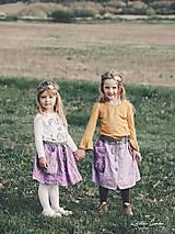 """Detské oblečenie - Košelo-sukňa """"orgován"""" - 10641920_"""