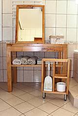 Nábytok - stolík pod umývadlo/kúpelňová zostava - masív - 10643421_