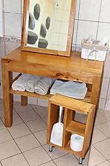 Nábytok - stolík pod umývadlo/kúpelňová zostava - masív - 10643422_