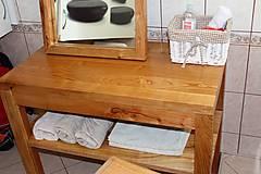 Nábytok - stolík pod umývadlo/kúpelňová zostava - masív - 10643423_