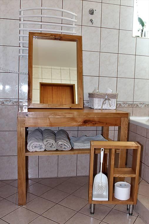 stolík pod umývadlo/kúpelňová zostava - masív