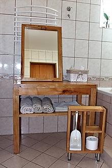 Nábytok - stolík pod umývadlo/kúpelňová zostava - masív - 10643430_