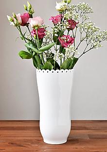Dekorácie - Váza Krajka - 10643502_