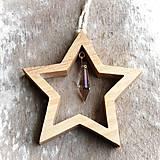 Dekorácie - Drevená Hviezda Zornička - 10642140_
