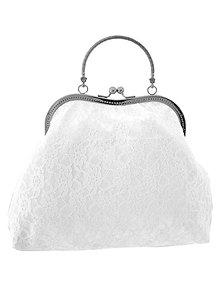 Kabelky - Svadobná kabelka, bielá čipková kabelka pre nevestu 012 (Béžová) - 10644667_