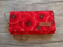 Peňaženky - Peňaženka - vlčie maky - 10644548_