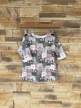 Detské oblečenie - Predĺžené mačičkové tričko - 10642279_