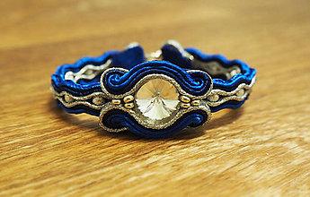 Náramky - Náramok Modrá Elegancia - 10643529_