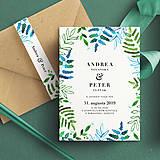Papiernictvo - Svadobné oznámenie PAPRADE - 10643807_