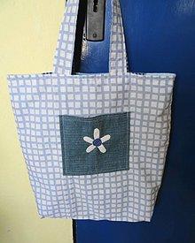 Veľké tašky - modrá je dobrá-obojstranná taška - 10643681_