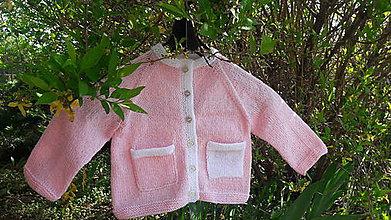 Detské oblečenie - Pletený detský sveter ružový - 10642002_