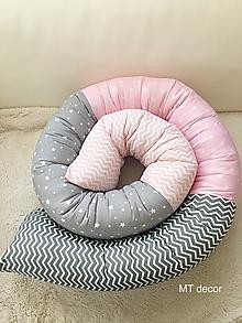 Textil - Okruhlý mantinel, hadik, zástena, zábrana do postieľky, postele - 10643002_
