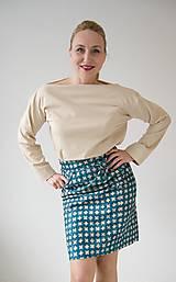 Tričká - Tričko béžovej farby - 10641786_