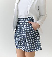 Nohavice - Kraťasy s vysokým pásom a vreckami - 10641618_
