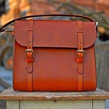 Veľké tašky - Unisex kožena taška A4 - 10644416_
