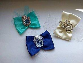 Ozdoby do vlasov - Ozdoba do vlasov folk (Modrá) - 10642696_