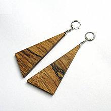 Náušnice - Drevené náušnice visiace - špaltované bukové kúsky - 10644159_