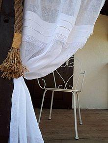 Úžitkový textil - Ľanová záclona Touch of Innoncence - 10644386_