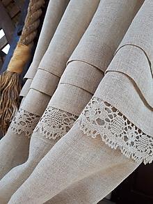 Úžitkový textil - Ľanová záclona Magical Nature - 10644398_