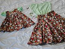 Sukne - Kvetinová kruhová sukňa - 10643043_