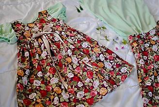 Detské oblečenie - Kvetinkové šatičky - 10643023_