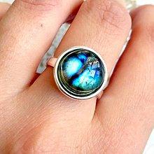 Prstene - Simple Labradorite AG925 Ring / Strieborný prsteň s labradoritom /2088 - 10646971_